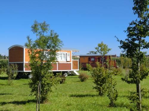 Les Roulottes de la Ferme de l'Autruche Dromoise : Guest accommodation near Beauchastel