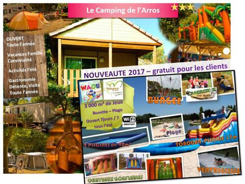 Camping de l'Arros : Guest accommodation near Plaisance