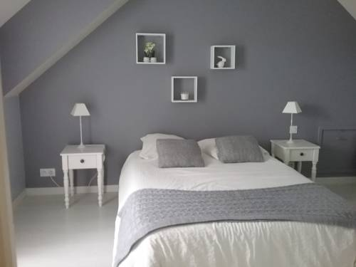chambre et salon vidéo : Bed and Breakfast near Urzy