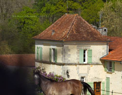 Les Deux Abbesses en Vert | La Grande Maison B&B : Bed and Breakfast near Rougnac