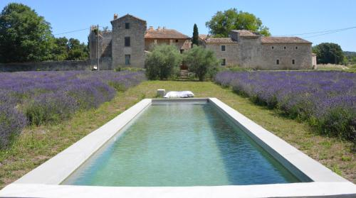 Uzes, loft dans Moulin independant 18e siecle en bord de riviere piscine privee 15x3 et champs de lavande : Guest accommodation near Poulx