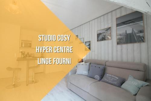 Studio cosy centre-ville : Apartment near Theix
