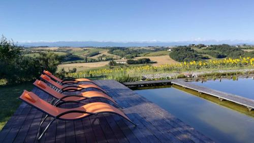 Chaumarty Ecogite : Guest accommodation near Castagnac