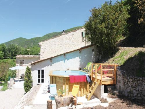 Holiday Home Montjoux with Fireplace I : Guest accommodation near Teyssières