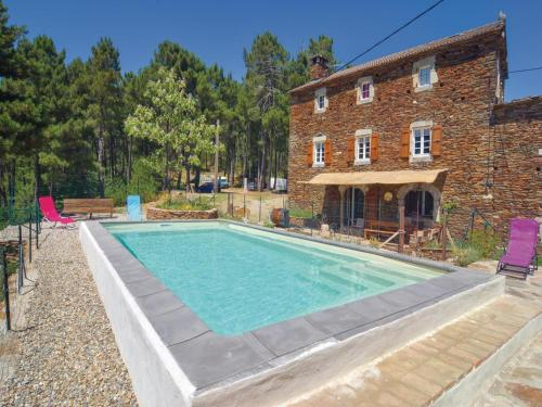 Holiday Home Malbosc with Fireplace I : Guest accommodation near Bordezac