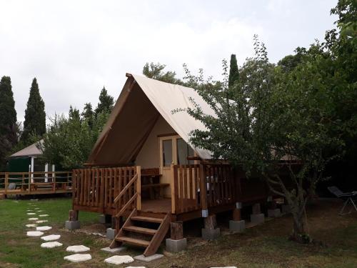 tente lodge : Guest accommodation near Pradelles-en-Val