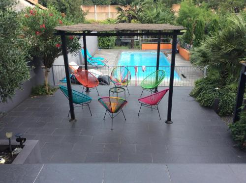 Maison (villa) de charme avec piscine : Guest accommodation near Sainte-Eulalie