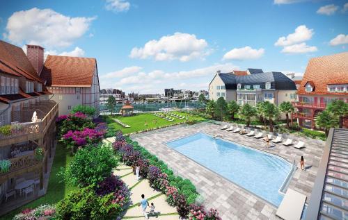 Résidence Pierre & Vacances Premium Presqu'Ile de la Touques : Guest accommodation near Bonneville-sur-Touques