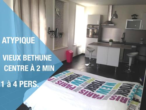 Appartement Béthune Centre à 300m : Apartment near Busnes