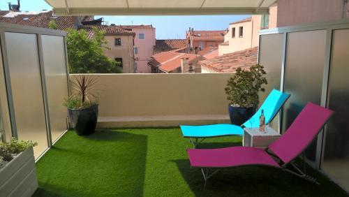 Au Coeur de Bandol T2 climatisé avec terrasse et garage : Apartment near Bandol