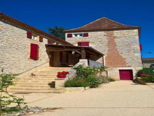 House Les junies - 10 pers, 200 m2, 6/5 : Guest accommodation near Pontcirq