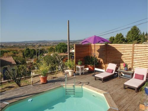 Three-Bedroom Holiday Home in Campagnan : Guest accommodation near Saint-Pons-de-Mauchiens