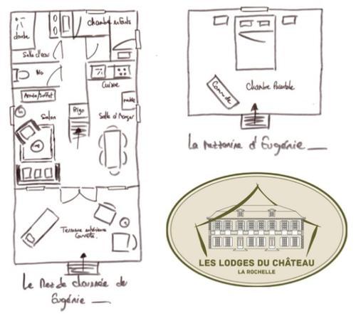 Les Lodges du Château près La Rochelle : Guest accommodation near Bouhet
