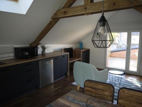 Gîte Le Grenier : Apartment near Billé