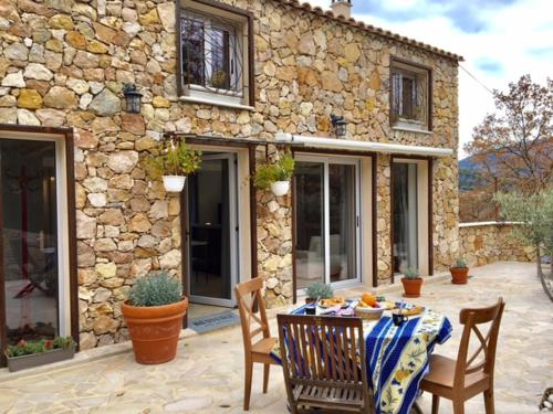 Le Carros - House with terrace : Guest accommodation near Toudon
