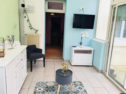 Appartement à 3mn à pied de la plage : Apartment near Verton