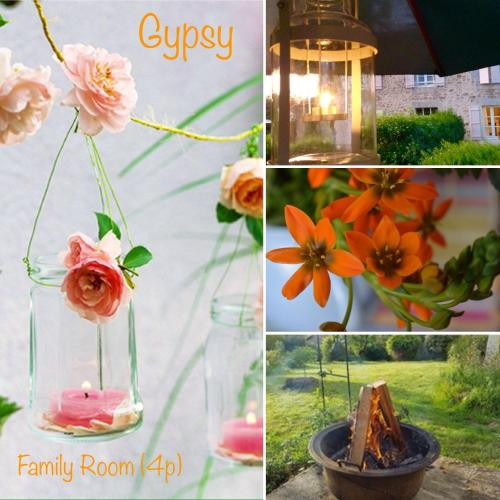 Domaine Charente - Familyroom Gypsy with garden (with external toilet & shower house) : Apartment near Lésignac-Durand