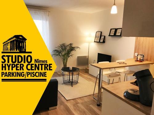 Studio face au Parc des Expos 3km de l'HyperCentre : Apartment near Manduel