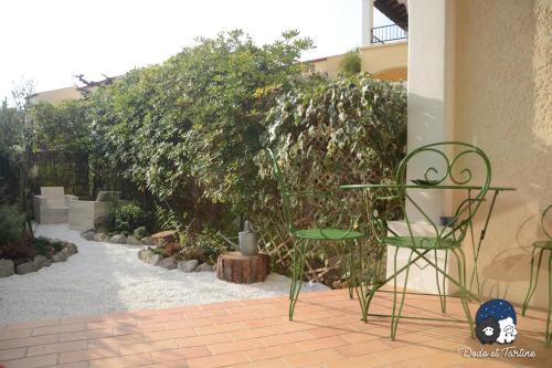 One Bedroom Apartment with garden - Dodo et Tartine : Apartment near Le Pradet