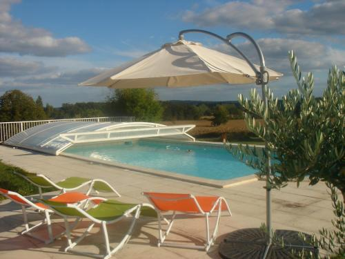 Chambres d'Hôtes Les Albizias : Bed and Breakfast near Courlac