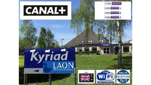 Kyriad Laon : Hotel near Étouvelles