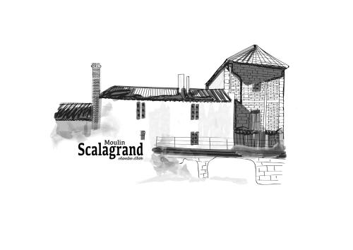 Le moulin scalagrand : Bed and Breakfast near Laussou