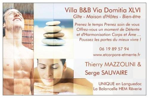 Villa B&B Via Domitia : Bed and Breakfast near Montbazin