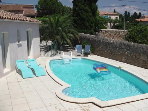 The Blue House : Guest accommodation near Cazouls-d'Hérault