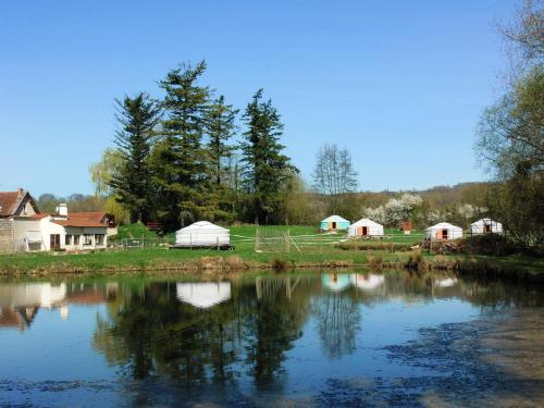 Yourtes du Moulin Bertrand : Guest accommodation near Bourg-et-Comin