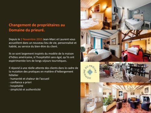 Logis Domaine du Prieuré : Hotel near Mazeray