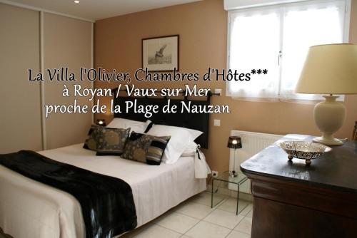 Chambre d'Hôtes Villa L'Olivier : Bed and Breakfast near Vaux-sur-Mer