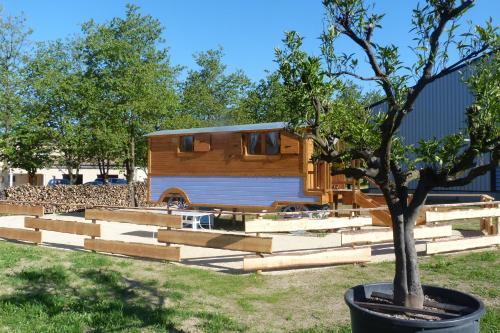 Roulottes au pied du Vercors : Guest accommodation near Pont-en-Royans