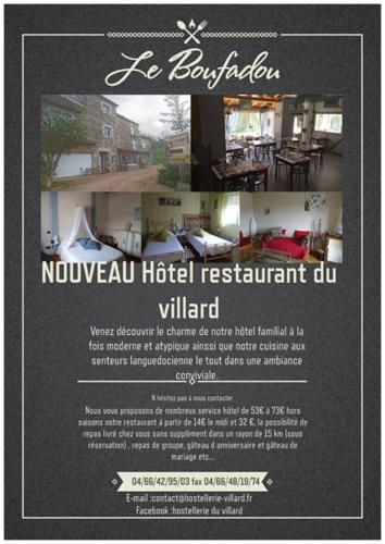 Le Boufadou : Hotel near La Chaze-de-Peyre