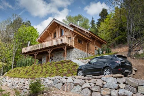 Les chalets perchés : Guest accommodation near Soultzeren