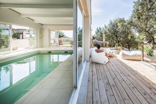 Les Petits Gardons : Guest accommodation near Saint-Hilaire-d'Ozilhan