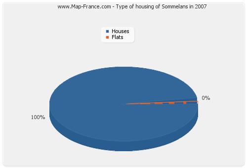 Type of housing of Sommelans in 2007