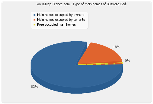 Type of main homes of Bussière-Badil