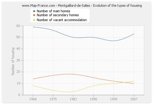 Montgaillard-de-Salies : Evolution of the types of housing