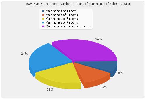 Number of rooms of main homes of Salies-du-Salat