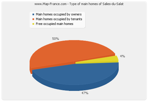 Type of main homes of Salies-du-Salat