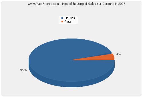 Type of housing of Salles-sur-Garonne in 2007