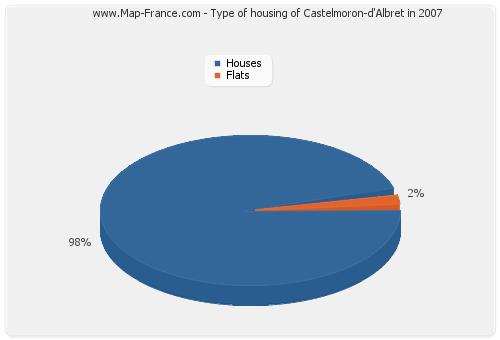 Type of housing of Castelmoron-d'Albret in 2007