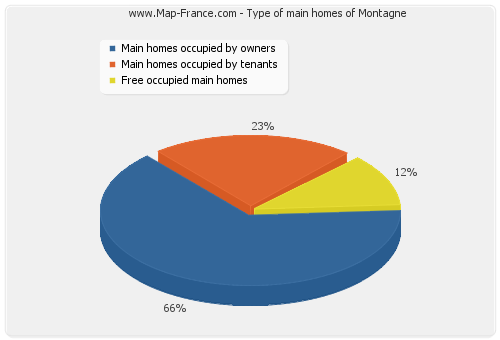 Type of main homes of Montagne