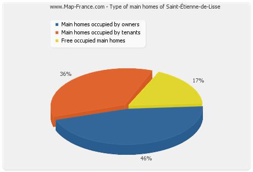 Type of main homes of Saint-Étienne-de-Lisse