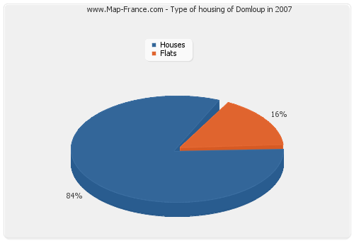 Type of housing of Domloup in 2007