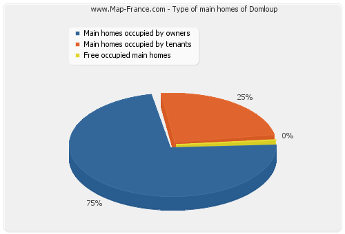 Type of main homes of Domloup