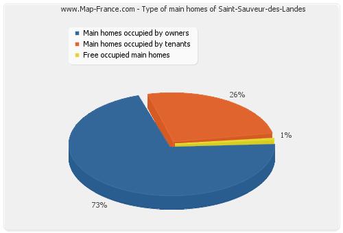 Type of main homes of Saint-Sauveur-des-Landes