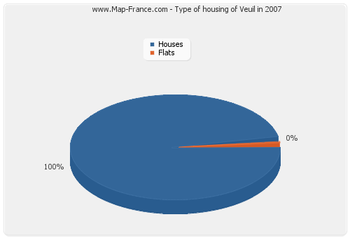 Type of housing of Veuil in 2007