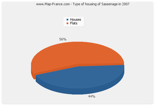 Type of housing of Sassenage in 2007
