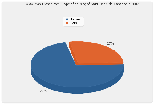 Type of housing of Saint-Denis-de-Cabanne in 2007